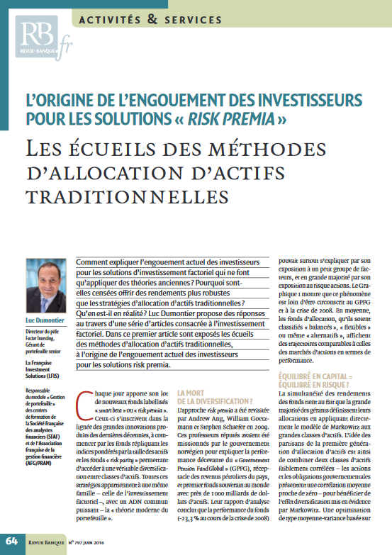 Allocations d'actifs traditionnelles